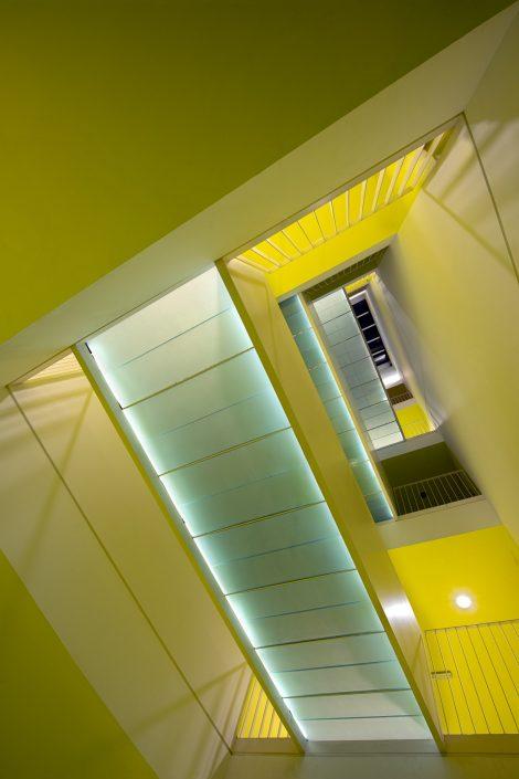 Hamlet student studios, staircase