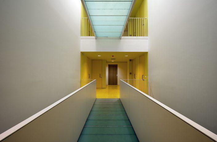 Hamlet student studios, corridors