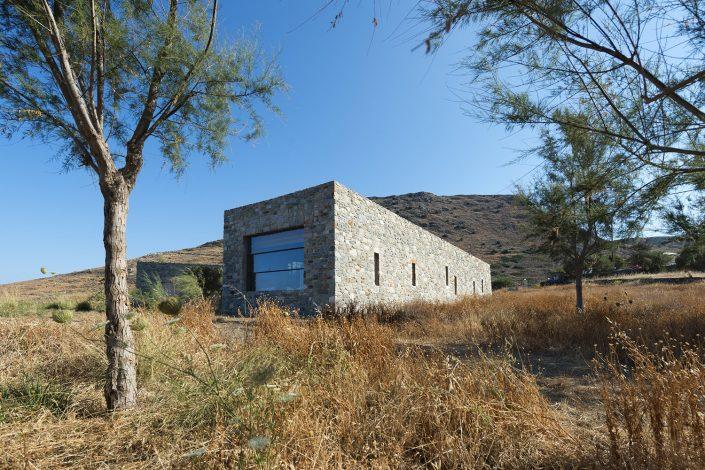 Κατοικία στο Δελφίνι Σύρου, εξωτερική άποψη