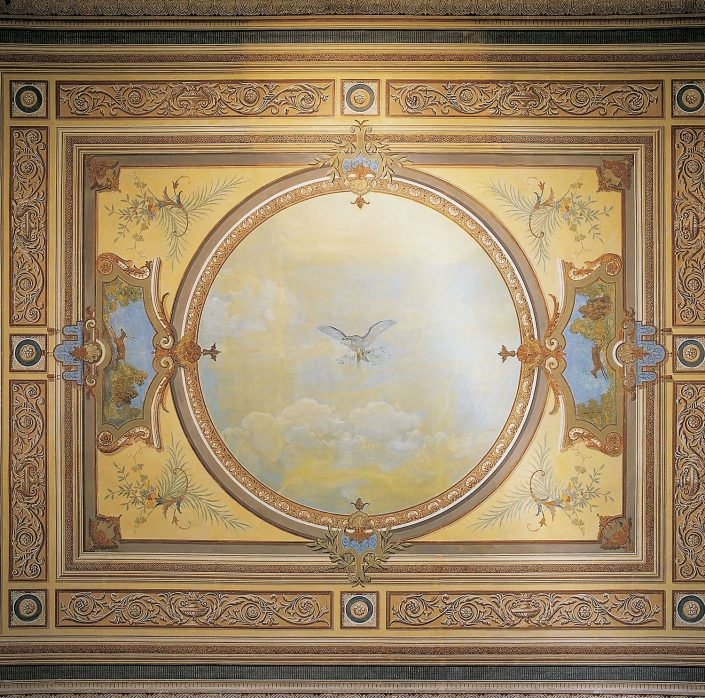 Μέγαρο Λμπρύτη, οροφογραφία
