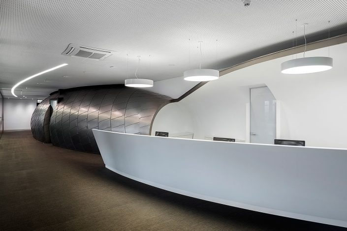 offices renovation in COSMOTE headquarters, reception